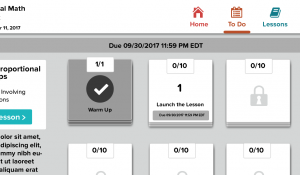 Student Dashboard progress